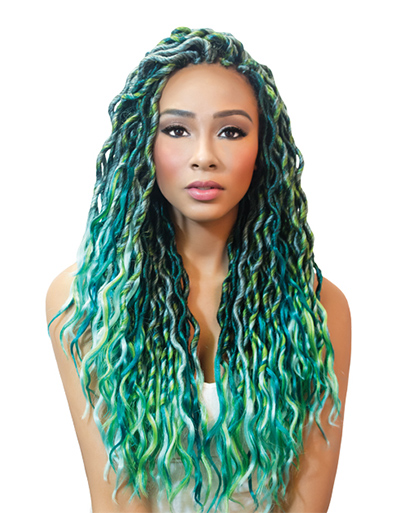 Urban Beauty Crochet Loop Goddess Wave Locs 18″ | Beauty & Beyond| Super Hair